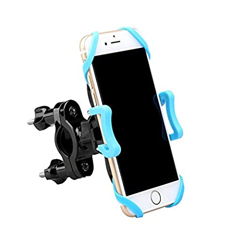 "Enkeeo Universal Bike Phone Mount for Cycling Compatible With Most iOS and Android Smartphones, GPS, other Devices with Width 1.8""-3.7"","