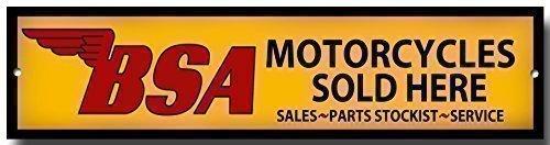 BSA Motocycles Vendu Here qualité métal panneau de garage pas cher