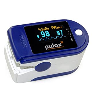 PULOX PO-200 - Pulsioxímetro para medir la Saturación de Oxígeno y la Frecuencia del Pulso con Accesorios (B002VQBGYU) | Amazon price tracker / tracking, Amazon price history charts, Amazon price watches, Amazon price drop alerts
