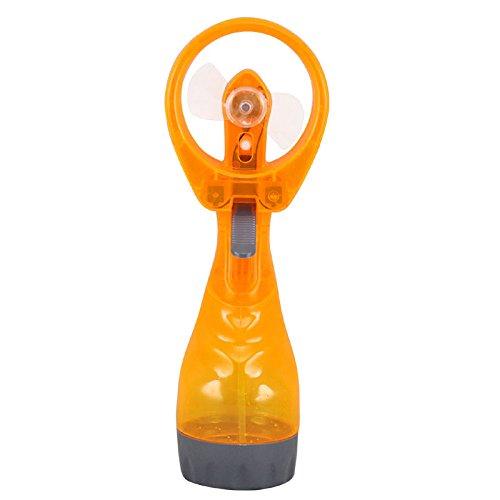 Wasser, Orange Zerstäuber (hangqi tragbar Hand Held batterieversorgt Lüfter Air Nebel Wasser-Flasche Kühlung Zerstäuber Orange)