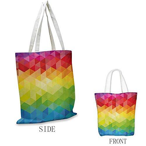 Bunte Einkaufstasche aus Segeltuch, abstrakte Kunst, Flying Origami, Kolibri, bunte Gebäude und Bäume Druck, kann auch mit einem Laptop geladen werden, mehrfarbig W15.75 x L17.71 Inch Color08