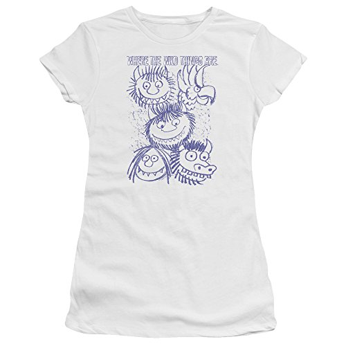 Where The Wild Things Are - Wo die Wilden Kerle wohnen - Das Wild Sketch Premium Bella T-Shirt für Junge Frauen, Medium, White