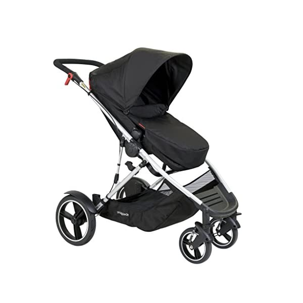phil&teds Voyager Buggy Pushchair, Black phil&teds 4-in-1 modular seat! the most adaptable seat yet with four modes, parent facing, forward facing, lie Revolutionary stand fold with 2 seats on. Adjustable handlebar with hand-mounted brake Double kit easily converts to lie flat mode as well. 9