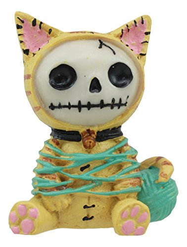 Furrybones Mao Mao Garn verstrickt Kitty Cat Cute Skelett Monster Ornament Figur