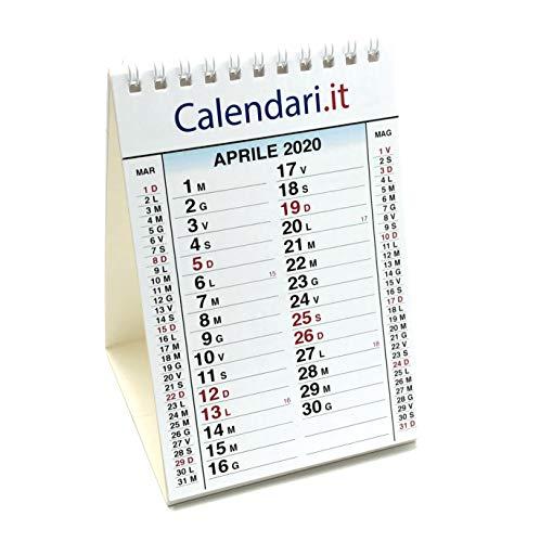 Calendario 2020 da tavolo 10x15 cm 14 fogli festività italiane. ideale per piccoli appunti sulla scrivania in ufficio casa e lavoro