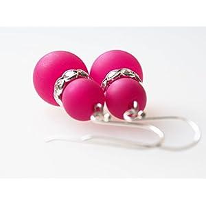 Ohrringe pink Polarisohrringe 925er Silber