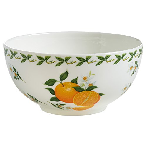 Maxwell & Williams pb8870 Orchard Fruits Bol Petit déjeuner Orange, 16 Cm, boîte Cadeau, Porcelaine, Multicolore