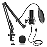 TONOR USB Microfoonkit Q9 Condensator Computer Cardioïde Microfoon voor Podcast, Game, YouTube Video, Stream, Muziek opnemen, Voice Over