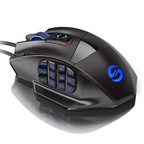 50bca55727e UtechSmart Venus -gaming maus 12 tasten 16400 dpi USB Laser Gaming Mouse |  18 Tasten