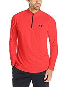 Under Armour Men's Tech Quarter Zip Long Sleeve Top - Rocket Red, 2X-Large