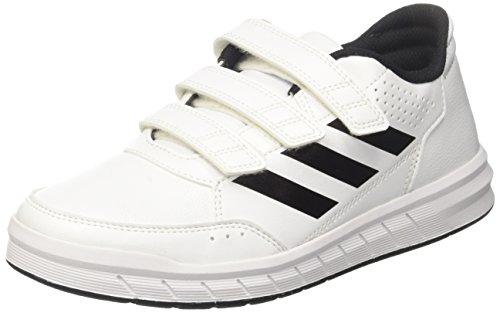 adidas Unisex-Kinder AltaSport CF Gymnastikschuhe, Elfenbein (FTWR White/Core Black/FTWR White), 38 EU (Boden Elfenbein)