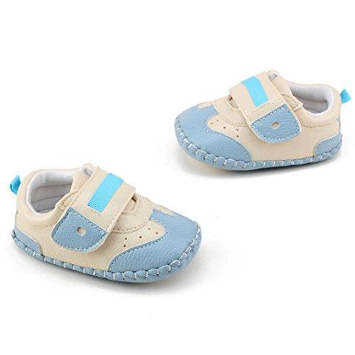 Omiky® Mode 2017 Kleinkind Mädchen Jungen bis Krippe Schuhe Prewalker Sneakers Blau
