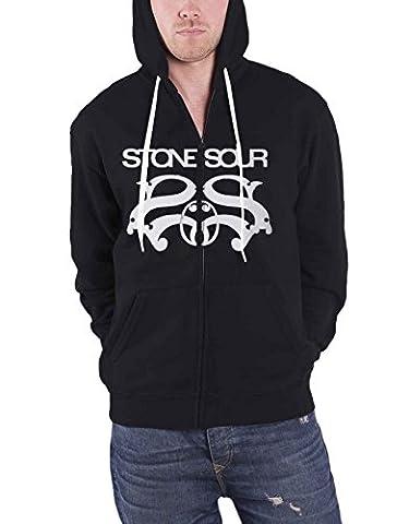 Stone Sour Sweat-shirt à capuche Band Logo nouveau officiel Homme Noir Zipped