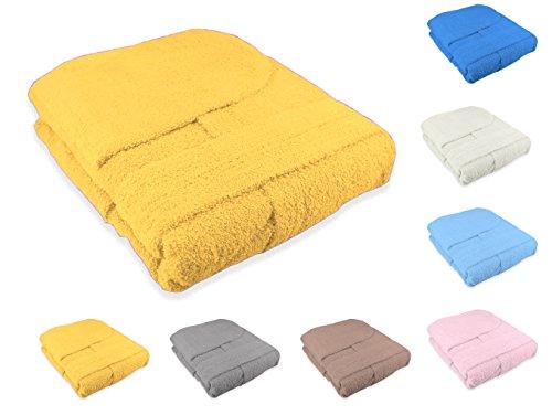 Accappatoio con cappuccio unisex adulto uomo o donna in spugna di cotone taglia m colore giallo