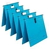 Herlitz 5874961 Hängehefter A4 UniReg kaufmännisch, Kraftkarton, 230 g/qm 5er Pack, Farbe blau