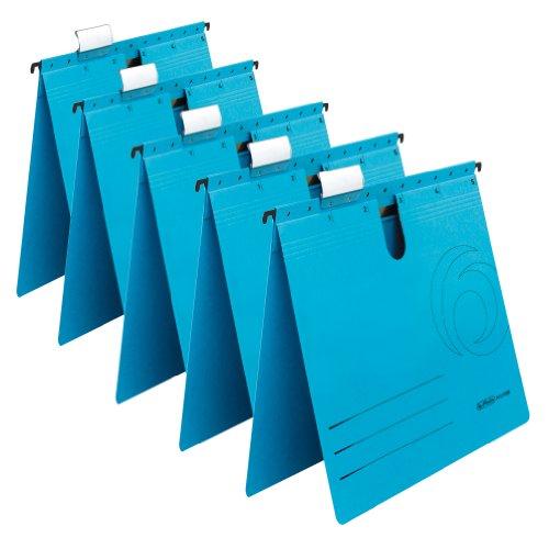 Preisvergleich Produktbild Herlitz 5874961 Hängehefter A4 UniReg kaufmännisch, Kraftkarton, 230 g/qm 5er Pack, Farbe blau