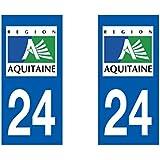 Autocollant plaque immatriculation pour Auto Aquitaine département - Aquitaine / 33 Gironde