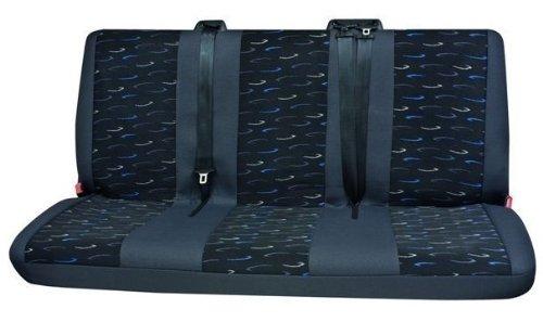 Transporter Autositzbezug, Sitzbezug, Schonbezug, 1 x 3er-Bank hinten, Sprinter, Farbe: Grau/Blau -