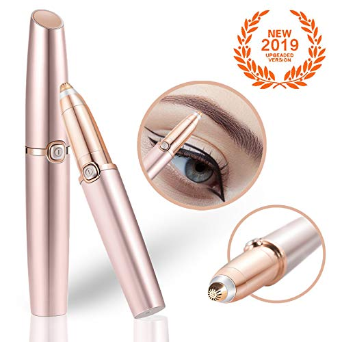 Neuer LED Augenbrauen Rasier von Yuanmu| effektiver und schmerzloser Augenbrauentrimmer| elektronisch und batteriebetriebener Augenbrauenrasierer