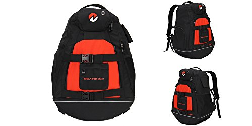 Power Roller Travel (Dual – Scooter/Board mit Rucksack Tasche, rot)