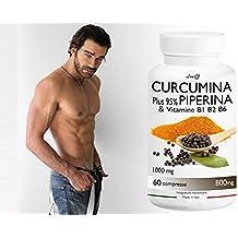 CURCUMINA Plus 95% potenziata con PIPERINA (60 CPR) per la perdita di peso - 20 VOLTE PIU' EFFICACE! Prodotto ITALIANO