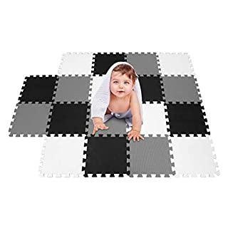 meiqicool Baby Playmats Floor Gyms Jigsaws Puzzles Jigsaw Accessories Puzzle Play mats Floor Exercise mats Frame,Fitness Yoga mats Play mat Crawling mat Protective Flooring White Black Grey 101104112