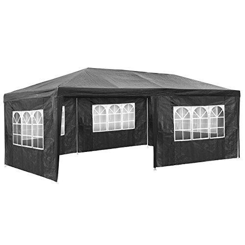 TecTake Pavillon Partyzelt Gartenzelt Eventpavillon | 3x6 m + 5 Seitenteile mit Fenster | - Diverse...