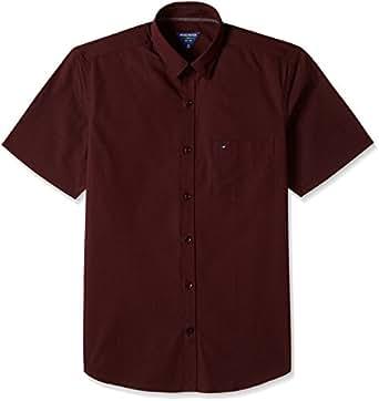 Indigo Nation Men's Formal Shirt (8907372724447_1ISE692140_40_Maroon)