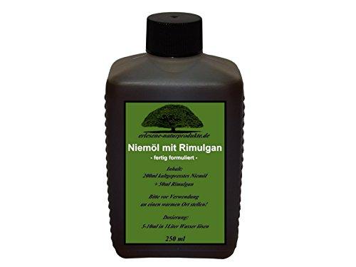 erlesene-naturprodukte.de Niemöl mit Rimulgan (Emulgator) 250ml / Niem Neem ***FERTIG GEMISCHT
