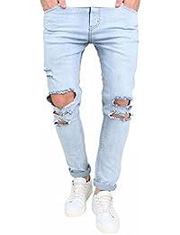 pantaloni da uomo primavera estate,WINWINTOM pantaloni da uomo vestito jeans strappati strappati pantaloni di jeans distrutti high street marea jeans di marca pantaloni moto maschile