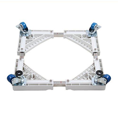 Qiangzi Einstellbare Basisständer Roller-Kühlraum-Behälter-Edelstahl-bewegliche Haltewinkel-Waschmaschine Justierbare Unterseite (Art Wahlweise Freigestellt) Für Badezimmer Küche (Wagen Roller Küche)