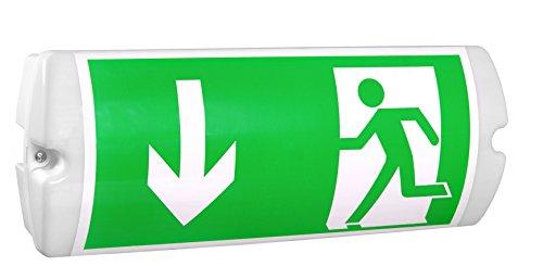 Notleuchte LED IP65 Notbeleuchtung Rettungszeichenleuchte Fluchtwegleuchte Notlicht Brandschutzzeichen Rettungszeichen (Pfeil nach links)
