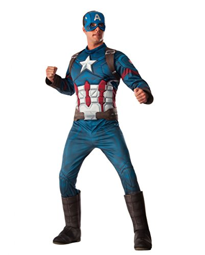 Captain America 3D Muskel Kostüm für Fasching Standard