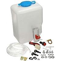 Wenwenzui-ES Kit de Botella de lavaparabrisas depósito Universal para lavaparabrisas de 12 V para