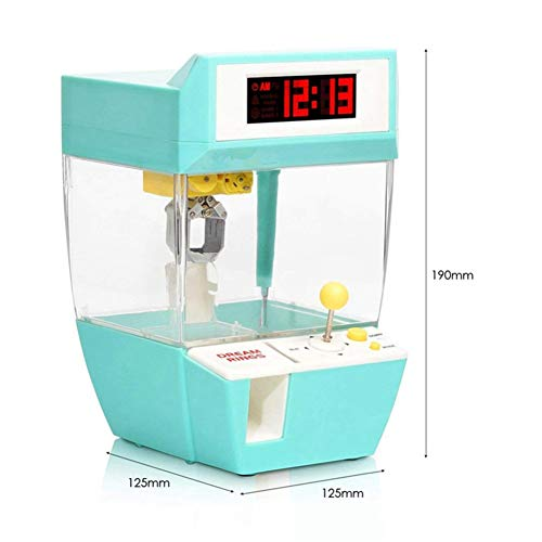 BeesClover Geburtstagsgeschenk für Kinder Mini Candy Grabber Catcher Kran Lazy Person Wecker Maschine Arcade Sanwa Praktische Brettspiele grün
