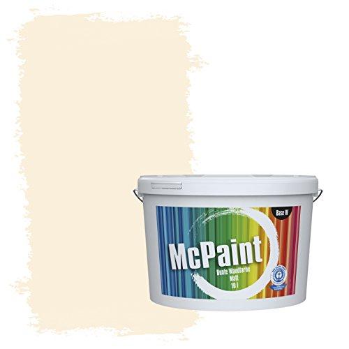 McPaint Bunte Wandfarbe Naturweiß - 10 Liter - Weitere Weiße und Helle Farbtöne Erhältlich - Weitere Größen Verfügbar