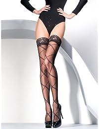 Gabriella Bas auto-fixants à motif croisé en noir, taille S/M