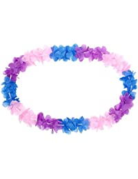 Alsino Hawaiiketten blau pink lila Blumenketten Hawaii 23