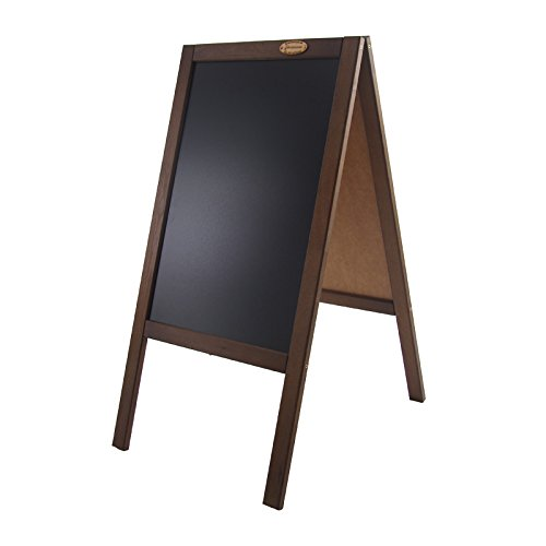 Kundenstopper 89 cm Holz Tafel Aufsteller Werbetafel Holztafel Werbeaufsteller (dunkelbraun)