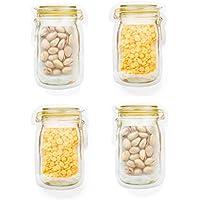 Mioloe Bolsas de sellado reutilizables Bolsas de almacenamiento de bocadillos de granos de café a prueba de agua