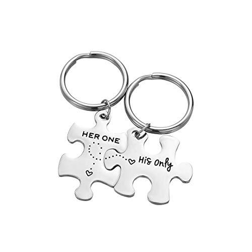 Vosarea 2pcs / Set Her One His Only Couple Letters