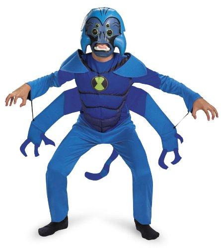 Monkey Kind Kostüm (Hasbro Ben 10 Spider Monkey Kostüm für Kinder Größe S 4-6)