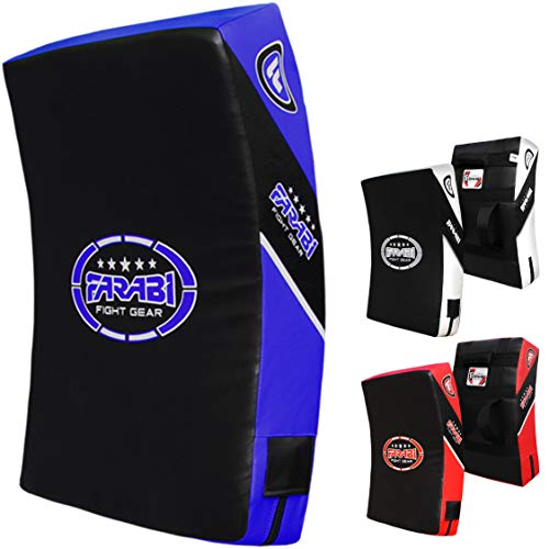 Kick Shield Strike Thai Pad gebogen groß Boxen MMA Training schwarz & blau Einheit -