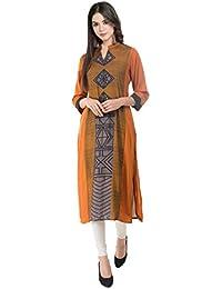 IndiStar Mustered Rayon 14 Kg Digital Printed Casual/Party Wear Kurta/Kurti For Womens