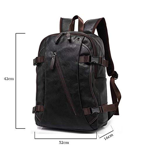 Fur Jaden Black Unisex Waterproof Stylish Backpack Bag of Artificial Leather for Faculty, Office and School Image 5