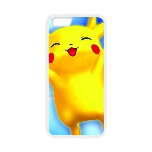 Pokemon Pikachu Design Durable TPU Case Cover Étui Coque de Protection pour Apple iPhone 66S, iPhone 6(4,7pouces), iPhone 6/6S Étui cover case (Blanc/Noir)