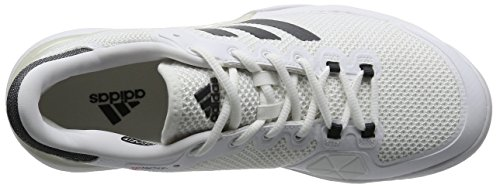 adidas Barricade 2017, Chaussures de Tennis Homme Blanc (Ftwr White/Dgh Solid Grey/Ftwr White)
