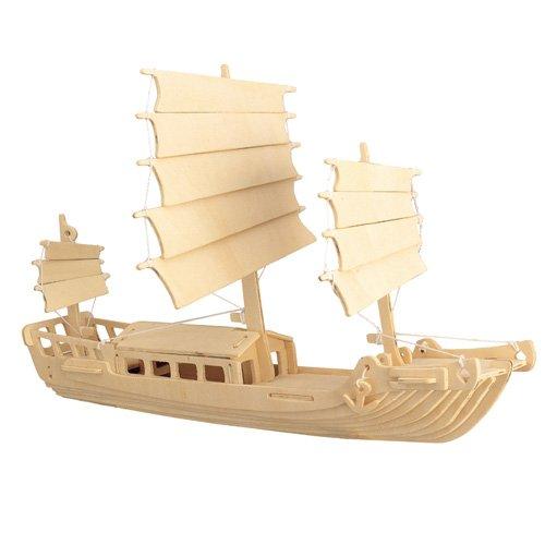 Etna Ilawa Dschunke 3D Holzbausatz Schiff Boot Holz Steckpuzzle Holzpuzzle Kinder P045