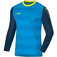 JAKO TW–Camiseta Leeds Camiseta de Portero, Primavera/Verano, Infantil, Color Blau/Navy/Neongelb, tamaño 152