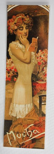 Jugendstil Lesezeichen, Warner's Rostfestes Corset von Alphonse Mucha von 1909 Gemälde